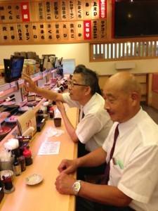 20130903聖会後のお昼回転寿司